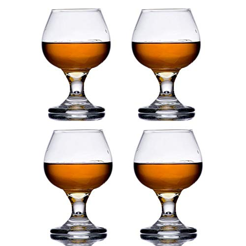 The Bar Glass Brandy Tasting Snifter Glass 5.5 oz (4, 5.5 oz)