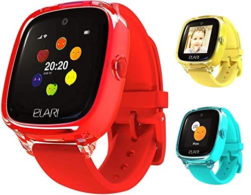 2G SmartWatch per Bambini Orologio GPS Bambini Localizzatore per ragazzi e ragazze, audio chiamate bidirezionali, chat vocale, SOS, fotocamera, giochi - ELARI KidPhone Fresh (Rosso)