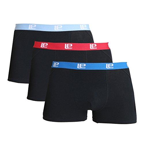 Lower East Herren Boxershorts Retro 3er Pack, Mehrfarbig (Schwarz/Bunt), XXX-Large