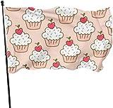 Viplili Banderas, Cherry Cupcakes Flag: 3x5 FT Flag Tough The Strongest, Longest Lasting Flag National Flag Outdoor Flags