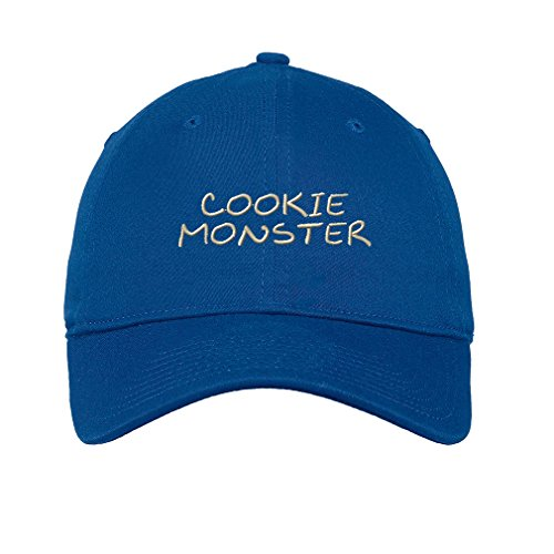 Speedy Pros Cookie Monster Twill Cotton 6 Panel Low Profile Hat Royal Blue