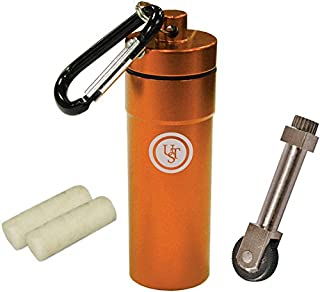 UST Stoke Kit with Micro SparkWheel Fire Starter and Two Light-Me Tinder Pieces in the Waterproof Compact BASE Case Great for Camping, Backpacking, Outdoor Survival and More