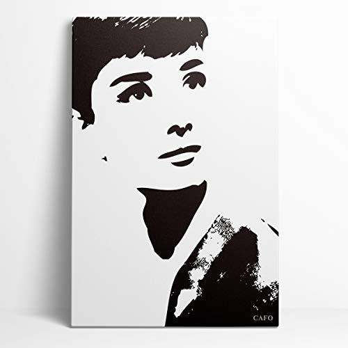 Conmemora Audrey Hepburn Canvas Wall Art 12'X18' Mejor actriz en una serie de drama Audrey Hepburn Family Decorativo