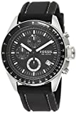 Fossil Men's Decker Quartz Silicone Chronograph Watch, Color: Silver/Black (Model: CH2573IE)