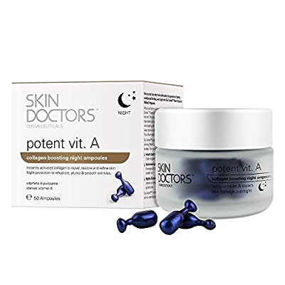 Skin Doctors Potent Vitamin A, Night Serum, Anti-Wrinkle Retinol Cream, helps Repairs Restore, Uneven skin-tone, Fine Lines, Dark Spots Ideal for Firming the skin and Boosting Collagen - 50 Ampoules