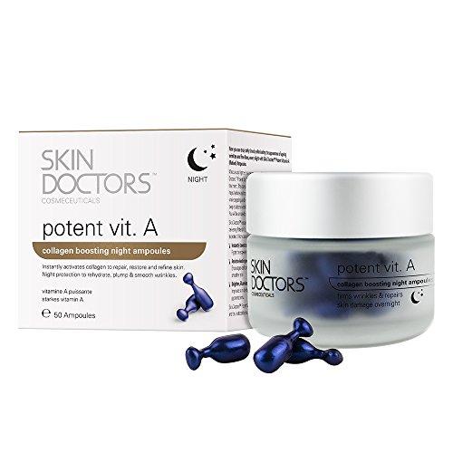 Skin Doctors Potent Vitamin A | Retinol | Crema antiarrugas | Repara, restaura y unifica el tono de la piel | Estimula la producción de colágeno | 50 ampollas