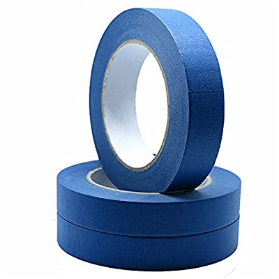 Blue Painter's Tape 3 Rolls, Multi Surface Masking Tape 0.7 Inch x 60 Yard, 180 Yard in Total, Painting and Decoration Supplies, Indoor and Outdoor Use