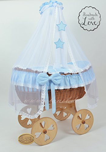 ALANEL Uno Star Heart Wheels Antique Blue Berceau pour enfant