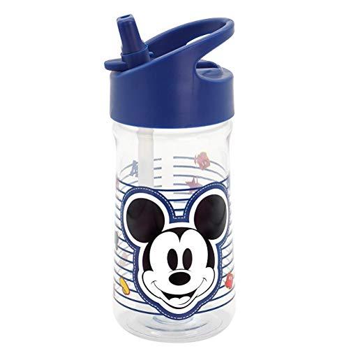 Botellas Agua Niños Colegio Con Pajita Marca Disney Mickey & Minnie Kids