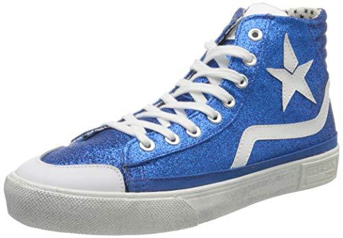 Replay Damen Ever W-WELSEY Hohe Sneaker, Blau (Royal 48), 39 EU