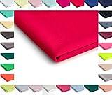 Nurek Scuba Tessuto a maglia semplice - 50 x 150cm - Disponibile in una varietà di colori (Rosso)