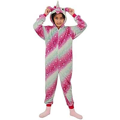 A2Z 4 Kids Disfraz de unicornio Kigurumi A2Z para niños y niñas, extra suave, con estampado de galaxia 3D, todo en uno, acogedor, pijama de nueva edad 2, 3, 4, 5, 6, 7, 8, 9, 10, 11, 12, 13 años