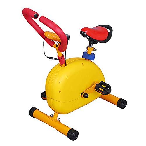 HWOEK Bicicleta Estática para Infantil, Niño Bicicleta Fija Pantalla LED y Resistencia Ajustable Equipo de Ejercicio para Chico Chica