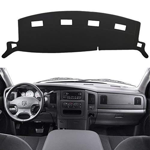 HanLanKa Black Carpet Dash Mat Compatible with 2002-2005 Dodge Ram 1500, 2003-2005 2500-3500,Custom Fit Dash Cover,Easy Installation Dashboard Cover