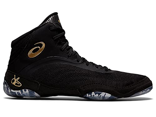 ASICS Men's JB Elite V Wrestling Shoes, 9.5, Black/Pure Gold