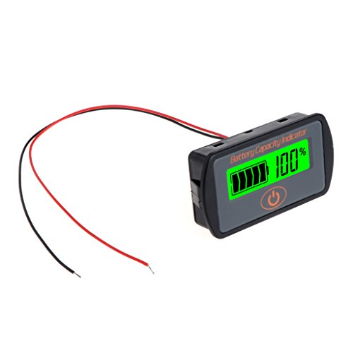 New 12V 24V LCD Battery Capacity Voltmeter Tester Indicator Car Lead-Acid Lithium by Keaiduoa