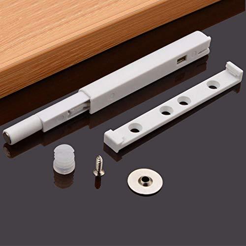 Yener Home Lade Keuken Hardware Deurkast Beschermen Demper Buffer Eenvoudig te installeren Magnetische punt Duw open Kast vangen ruisonderdrukking, Wit