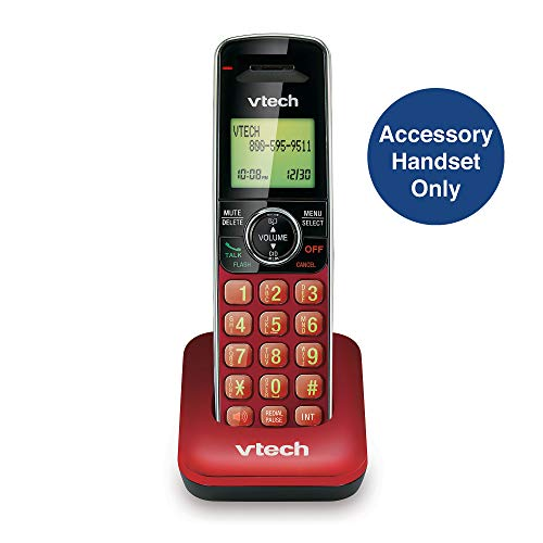 VTech CS6409-16 – Auricular inalámbrico, Color Rojo | Requiere un Sistema de teléfono inalámbrico…