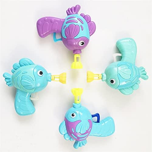A-myt lo hace estallar para dejar que la colorida Niños Burbuja Pistola Juguetes Dibujos animados Pescado Agua Agua Máquina Máquina Diversión Burbuja Maker Juguetes de Verano Para Niños Andddlers Inte