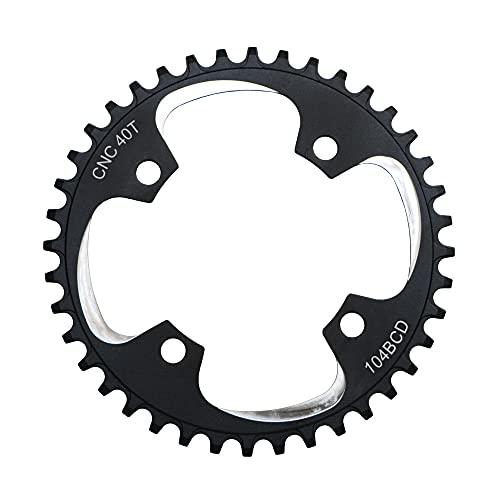 NGHSDO Platos para Bicicletas Bike Mountain Bike CNC Cadena Ancha Estrecha 104 BCD 32T 34T 36T 38T 40T 42T Disco Duro Positivo Positivo Positivo Positivo Disco Plato Ovalado 32 MTB (Color : 40T)