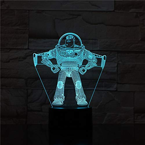 Toy Story, Illusion, Nachtlicht, Farbe, wechselnder Kinderjunge, Kinderspielzeug mit Nachttischlampe