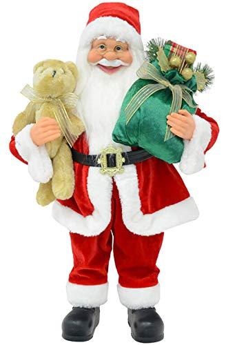 vanzetti Pupazzo Babbo Natale H60 cm Rosso