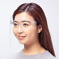 超高透明快適 フェイスシールド 可動式<フレームセット>日本製 超高透明 超軽量 安心安全 感染防止 感染予防 (クリア)