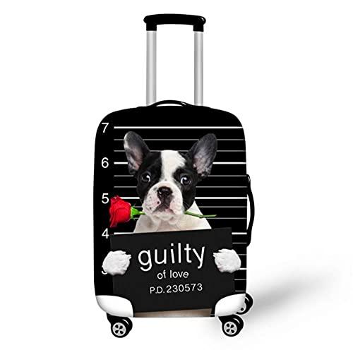 Funda de Equipaje de Perro con Estampado Grueso Negro para Funda de 18-32 Pulgadas Funda Protectora elástica para Maleta de Viaje con Cremallera-2_M