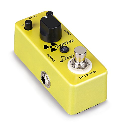 Donner Yellow Fall Delay Guitar Effect Pedal Mini Compact Size True Bypass