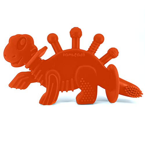 Product Image of the Baby Teether Toy and Training Toothbrush: Dibly - The Dino-Sore-No-More Baby...