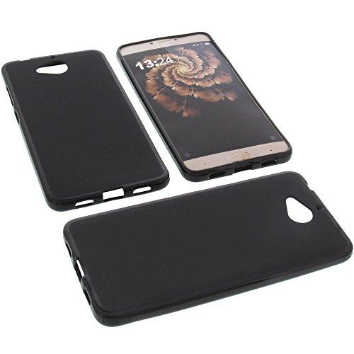 foto-kontor Tasche für Allview X3 Soul Plus Gummi TPU Schutz Handytasche schwarz