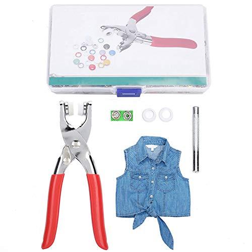 Colorido Kit de alicates a presión Botones Sujetadores Tacos de presión Artesanías para bolsos de cuero Ropa Chaquetas de bricolaje
