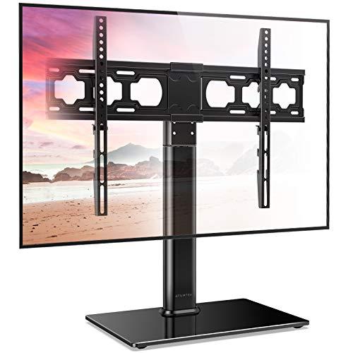 ATUMTEK TV Standfuss TV Ständer Schwenkbar für 37-65 Zoll LCD LED OLED Plasma Flach & Curved Fernseher bis zu 88 lbs