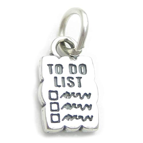 to do list Sterlingsilber Charm .925 x 1 Lists of Dinge Charms cf5173
