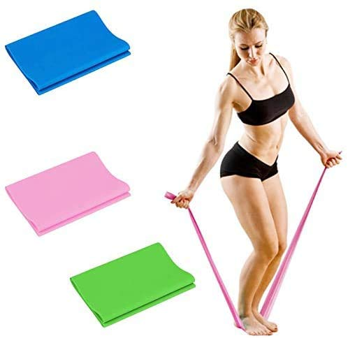 Resistance Bands Set, 3 Pack Latex Exercise Bands for Home Workout, Professional Elastic Bands for Upper, and Lower Body and Core Exercise, Physical Therapy, Pilates