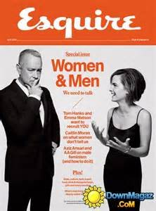 Esquire Magazine (Tom Hanks and Emma Watson Cover, April 2016)