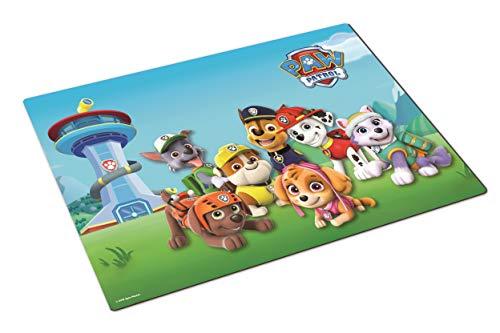 POS 29349088 - Tischset mit angesagtem Paw Patrol Motiv, Platzset aus Kunststoff für Jungen und Mädchen, ca. 42 x 29 cm groß, BPA-frei