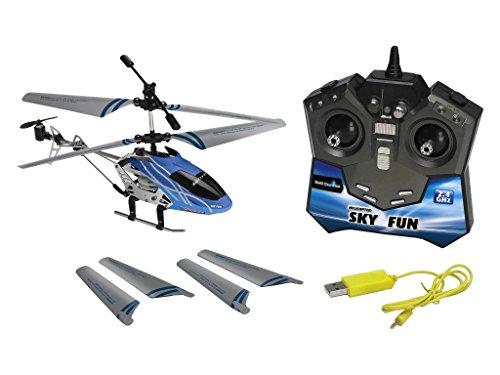Revell Control RC Helikopter, ferngesteuerter Hubschrauber für Einsteiger, 2,4 GHz Fernsteuerung, einfach zu fliegen, Gyro, stabiles Chassis, LED-Beleuchtung, USB-Ladegerät – SKY FUN 23982 - 3