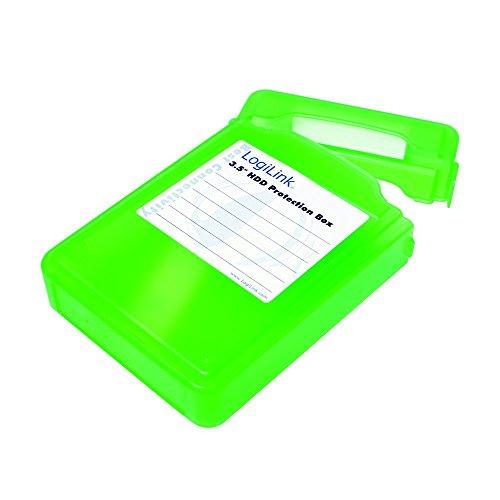 LogiLink UA0133 harde schijf beschermhoes 3,5 cm groen (1 harde schijf) groen