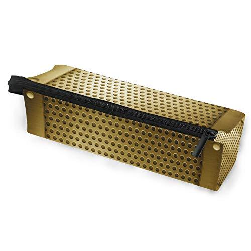 Bleistift tasche sonnenbrille goldene metall vorlage kosmetik studenten schreibwaren tasche reißverschluss für mädchen jungen