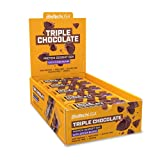 BioTechUSA Protein Dessert Bar, Barra de proteína, con recubrimiento crujiente de granos de cacao y edulcorantes, 20*50 g, Triple Chocolate
