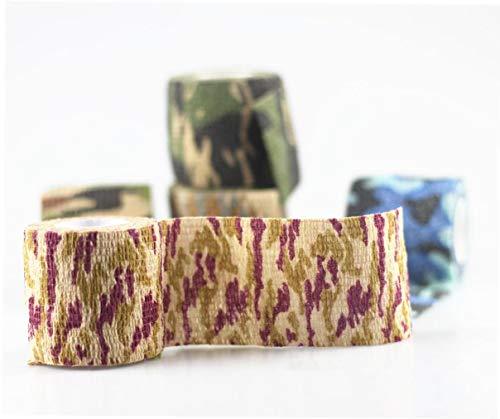 Self Adhesive Bandage Tierarzt Band Kohäsivbinden Masse Selbst Adherent Wrap Non-Woven-Jagd-Camouflage-Klebeband für Haustiere Tiere Knöchelverstauchungen Geschwulst Accessoires, 5Pcs