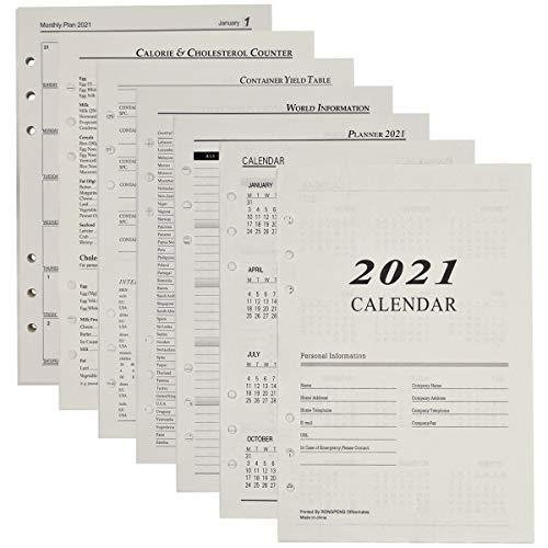 Carta A5 a Fogli Sciolti - ZSWQ Ricarica di Carta 6 Fori Formato A5, Per Pianificatore di Quaderno di Diario di Quaderno Ricaricabile A5, 180 Fogli/360 Pagine