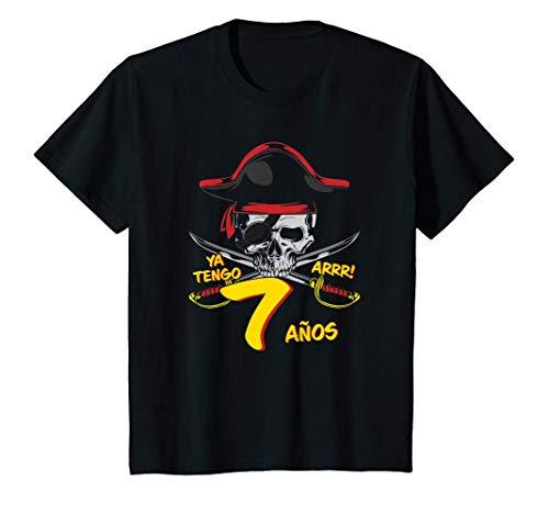 Niños Piratas - Para el 7º cumpleaños del pirata - 7 años - Pirata Camiseta