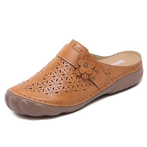 Sandalias de Planas para Mujer Verano 2021 Verano Punta Cerradas Pantuflas Zapatillas de Corcho Confort Zapato de Playa Moda Mules Transpirable Alpargata para Deportes Al Aire Libre
