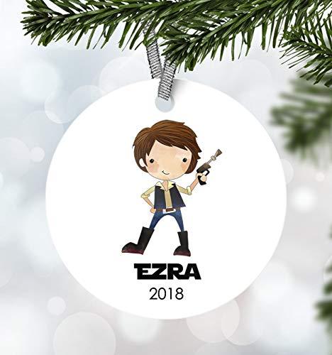 Tr674gs Kids Christmas Ornament Boy Ornament Ornament First Christmas Ornament Personalized 3' Christmas Ornament Kids Han Solo Ornament