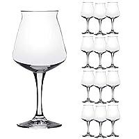 Boîte de 12 verres - MINI TEKU 33 cl. Diamètre: 88 mm. Hauteur: 186 mm. Matériel: Superstrong cristallin version MINI de TEKU calice pour la dégustation des bières artisanales conçues par TEO MUSSO & Kuaska Made in Italy