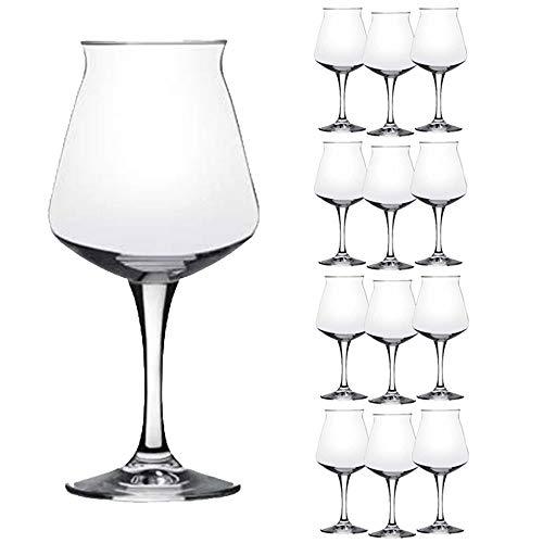 Rastal - Set van 12 glazen model MINI TEKU - 33 cl. (11,6 Imp.fl.oz.) - Voor universeel biermonster