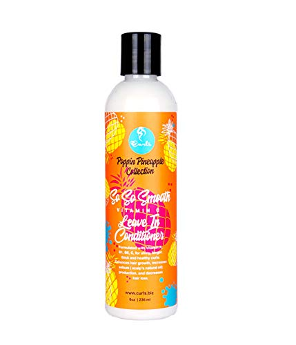 Curls Poppin Pineapple So So Smooth Vitamin C Leave In Conditioner, 8 Ounces