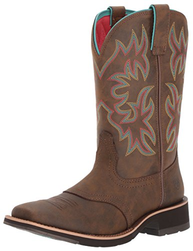 Ariat Women's Delilah Work Boot, Toasted Brown, 8 B US